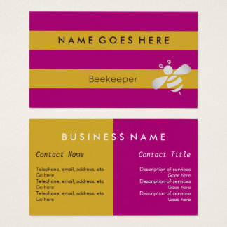 """""""Embandeira"""" cartões de visitas do apicultor"""