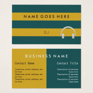 """""""Embandeira"""" cartões de visitas do DJ da música"""
