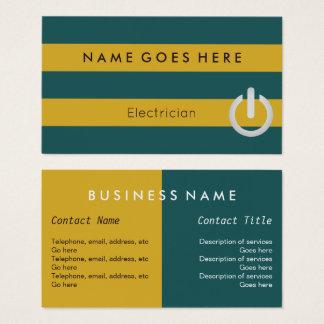 """""""Embandeira"""" cartões de visitas do eletricista"""