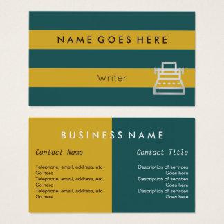 """""""Embandeira"""" cartões de visitas do escritor"""