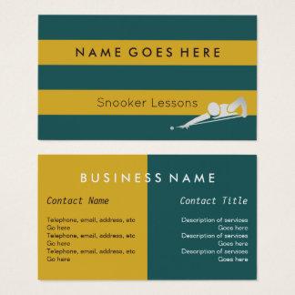 """""""Embandeira"""" cartões de visitas do Snooker"""