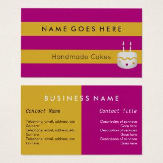 """""""Embandeira"""" cartões de visitas Handmade dos bolos"""