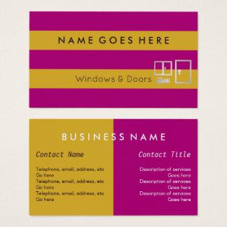 """""""Embandeira"""" Windows e cartões de visitas das"""