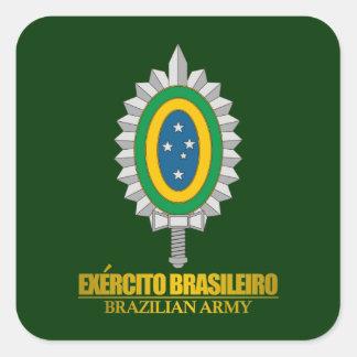 Emblema brasileiro do exército adesivo quadrado