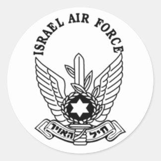 Emblema da força aérea do exército israelita ZAHAL Adesivos Em Formato Redondos