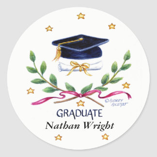 Emblema da vitória das etiquetas da graduação