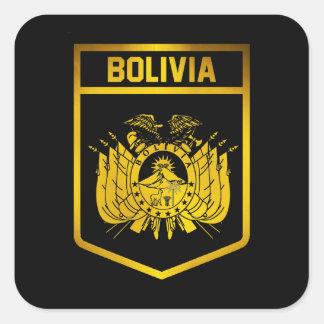 Emblema de Bolívia Adesivo Quadrado