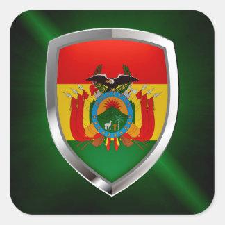 Emblema de Bolívia Mettalic Adesivo Quadrado