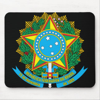 emblema de Brasil Mouse Pad