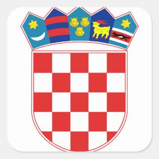 emblema de croatia adesivos quadrados