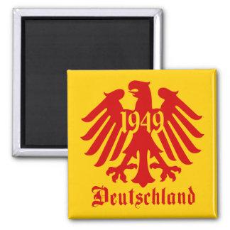 Emblema de Eagle do alemão da alemanha 1949 Ímã Quadrado