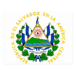 emblema de El Salvador Cartão Postal
