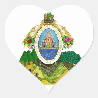 emblema de honduras adesivo coração