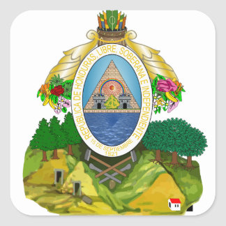 emblema de honduras adesivo quadrado