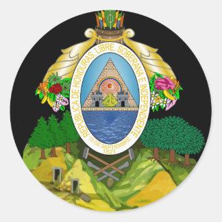 emblema de honduras adesivo redondo