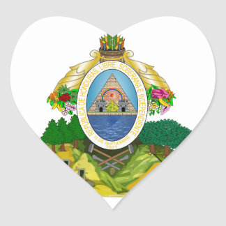 emblema de honduras adesivos de corações