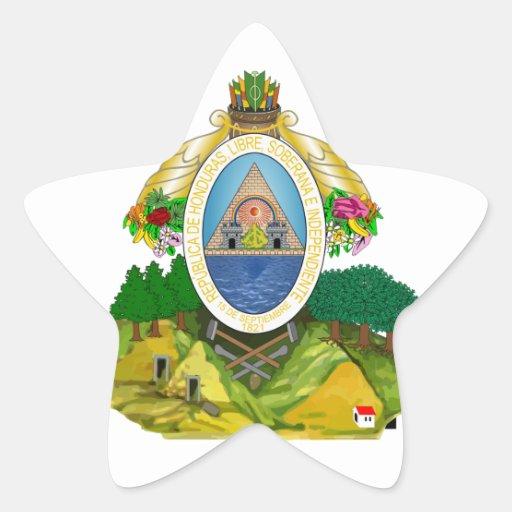 emblema de honduras adesivo estrela
