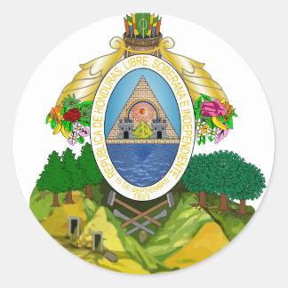 emblema de honduras adesivo em formato redondo