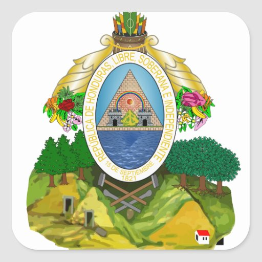 emblema de honduras adesivos quadrados