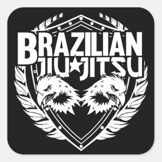 Emblema de Jiu Jitsu do brasileiro Adesivo Quadrado