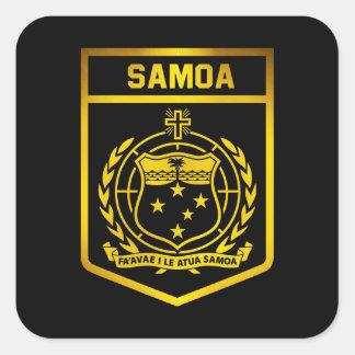 Emblema de Samoa Adesivo Quadrado