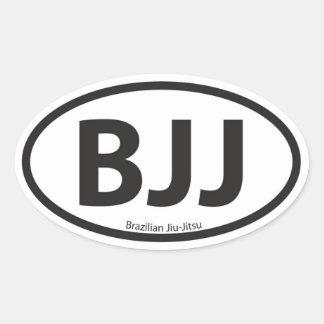 Emblema do carro do estilo de BJJ euro- Adesivos Oval