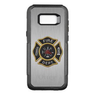 Emblema do departamento dos bombeiros de luxe capa OtterBox commuter para samsung galaxy s8+