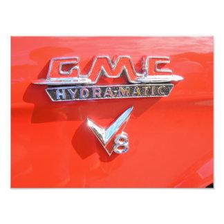 Emblema do hydra-matic de GMC Foto