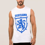 Emblema do leão da brasão de Scotland Camisa Sem Manga