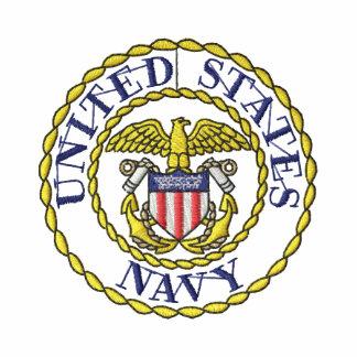 Emblema do marinho camiseta bordada polo