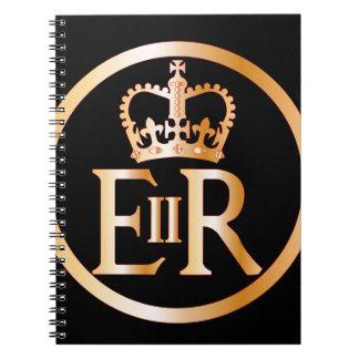 Emblema do reino de Elizabeth Cadernos Espiral