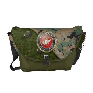Emblema do USMC & uniforme [3D] Bolsas Mensageiro