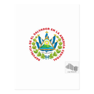 emblema e código de barras de El Salvador Cartão Postal