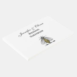 Emblema heráldico formal C da brasão da abelha do Livro De Visitas