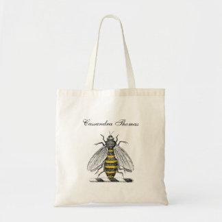 Emblema heráldico formal da brasão da abelha do bolsa tote
