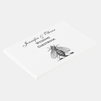 Emblema heráldico formal da brasão da abelha do livro de visitas