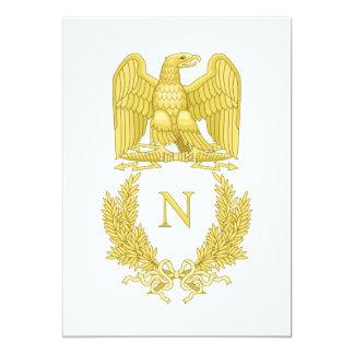 Emblema imperial francês Napoleon mim cartão do Convite Personalizado