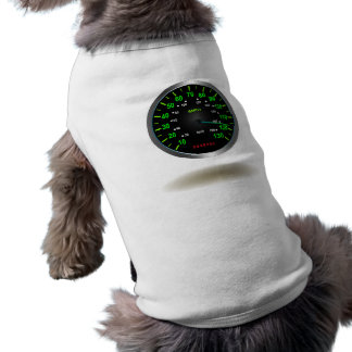 Emblema legal do velocímetro camiseta
