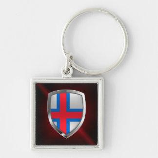 Emblema metálico de Faroe Island Chaveiro