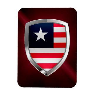 Emblema metálico de Liberia Ímã