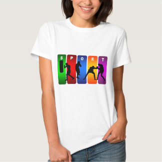Emblema multicolorido do encaixotamento tshirt