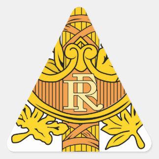 Emblema nacional de France Adesivos Em Forma De Triângulo