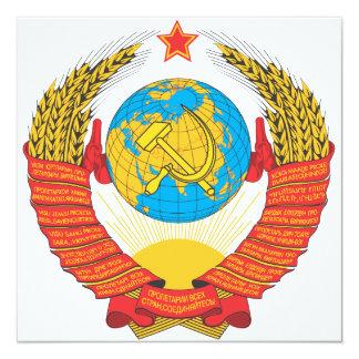 Emblema nacional de URSS Convite Quadrado 13.35 X 13.35cm
