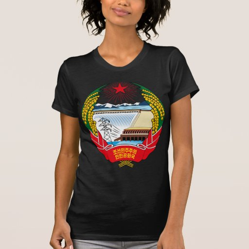 emblema norte de Coreia T-shirt