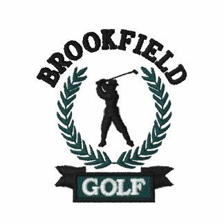 Emblema personalizado do golfe com folhas do louro camiseta bordada polo