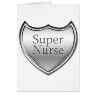 Emblema super da enfermeira cartão comemorativo