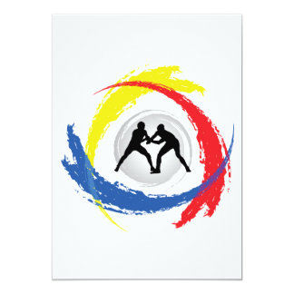 Emblema Tricolor da luta Convite 12.7 X 17.78cm
