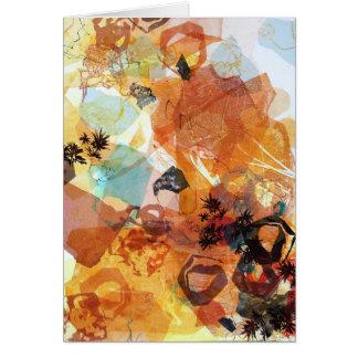 Emissão recebendo o cartão da arte abstracta