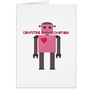 Emoção de computação cartão comemorativo