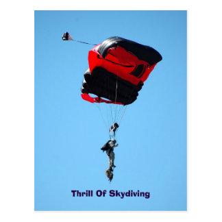 emoção do cartão de Skydiving